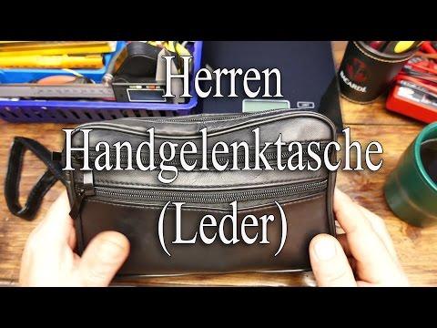 Herren Handgelenktasche (Leder)