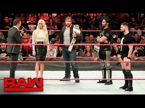 Seth Rollins and Finn Bálor want the Universal Championship: Raw, May 1, 2017