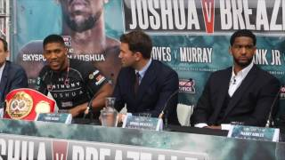 ANTHONY JOSHUA v BREAZEALE -  PRESS CONFERENCE
