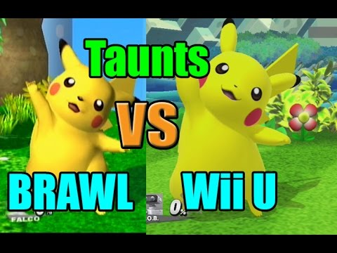 Taunt Comparisons in Super Smash Bros Wii U and Brawl (Graphic, Voice, Taunt Changes)