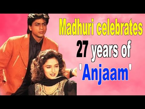 Madhuri Dixit celebrates 27 years of Anjaam shares throwback pic with SRK