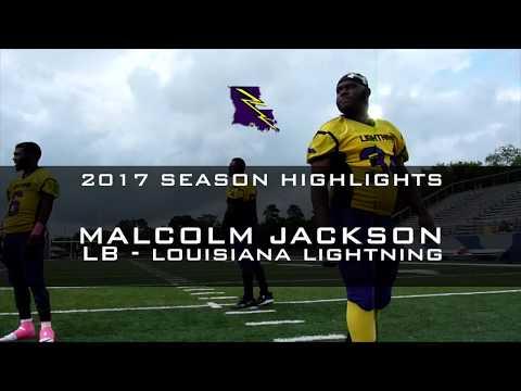 #34 LB - Malcolm Jackson Louisiana Lightning 2017 Season Highlights