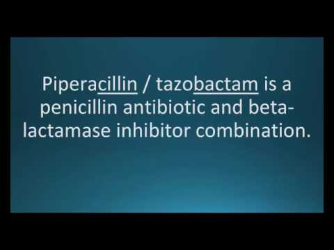 How to pronounce piperacillin / tazobactam (Zosyn) (Memorizing Pharmacology Flashcard)