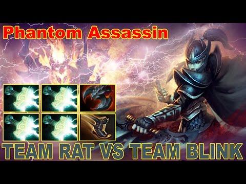 Phantom Assassin 4 Mjolnir vs Team blink | WTF Build | Dota 2 Gameplay 2017