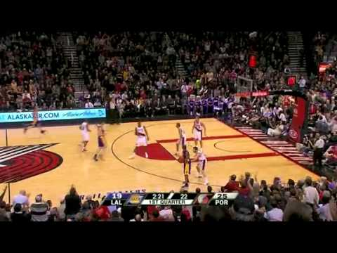 Rudy Fernandez's amazing save against the Lakers