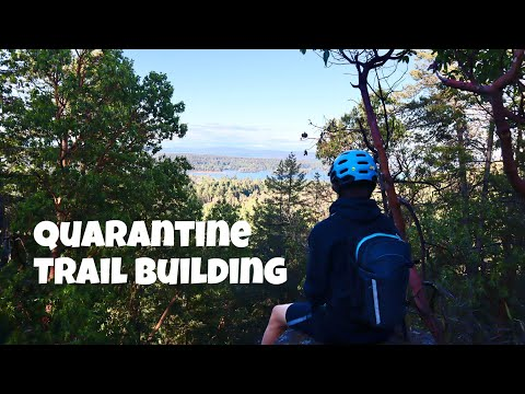 QUARANTINE TRAIL BUILDING ep 9 ( Riding New Jump)