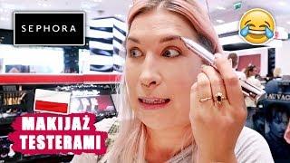 ♦ 🇵🇱 Robię cały MAKIJAŻ TESTERAMI w Polskiej Sephorze! #challenge ♦ Agnieszka Grzelak Beauty