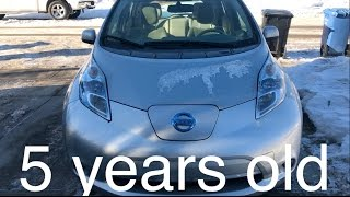 Video Nissan Leaf 5 year review MP3, 3GP, MP4, WEBM, AVI, FLV Oktober 2018