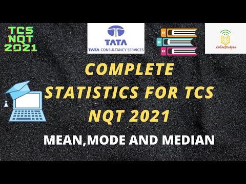 Statistics questions for TCS NQT 2021   TCS NQT aptitude