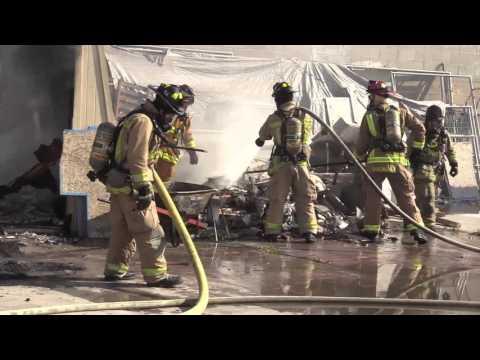 Chula Vista Fire, Man Gets Burned  05022016