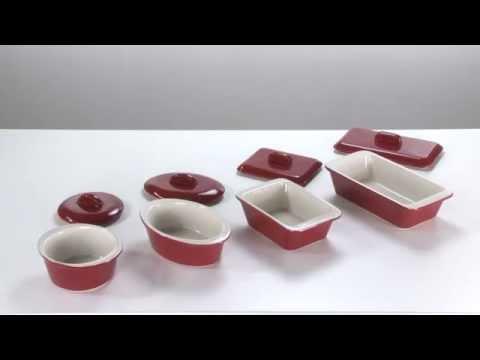 Видео Формочки керамические Tescoma Форма для запекания с крыской,прямоуголная  GUSTO ROUGE 15Х10 СМ Tescoma 622190