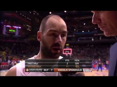 Post-game interview: Vassilis Spanoulis, Olympiacos Piraeus