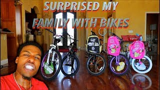 Surprising My Whole Family With Brand New Bikes!