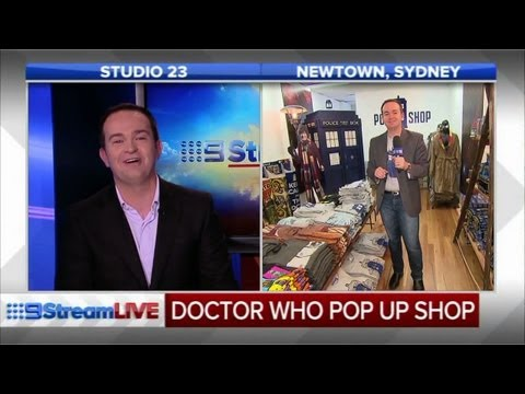 News host interviews himself at the Doctor Who pop-up shop