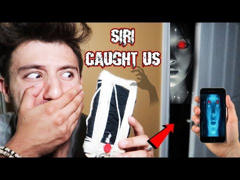 (SIRI FOLLOWED US!) DONT USE A SIRI DOLL AT 3 AM  THIS IS WHY (WE SAW SIRI IN REAL LIFE)