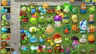 Plants Vs Zombies 2 45 Plantas Nivel Máximo Vs 300 ZombiesEn esta misión se comienza con 45 plantas, todas las plantas tiene el nivel máximo, lo cual son muy fuertes, pero deben enfrentarse antes múltiples zombies de diferentes mundo, entre esos los zombistein que son los mas fuertes, se debe evitar que los zombies puedan pasar a la casa de Dave sin podadoras y con las 45 plantas, pero en caso de urgencia se solicita agarrar las plantas explosivas que se colocan en el nivel.