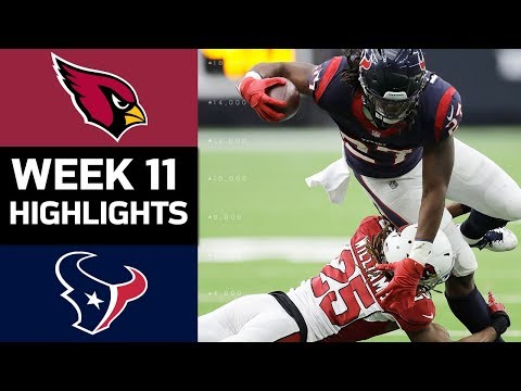 Cardinals vs. Texans   NFL Week 11 Game Highlights