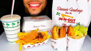 ASMR IN N OUT BURGER ANIMAL STYLE FRIES GRILLED CHEESE VANILLA SHAKE EATING SOUNDS JERRY MUKBANG 먹방