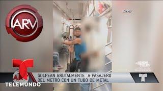 Brutal golpe con tubo de metal a un hombre en el metro | Al Rojo Vivo