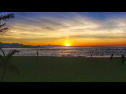 Puesta de sol en la playa de Las Canteras Las Palmas de Gran Canaria