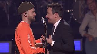 Video Jimmy Fallon and Justin Timberlake - The Barry Gibb Talk Show Theme Song (Behind The Scene) download in MP3, 3GP, MP4, WEBM, AVI, FLV January 2017
