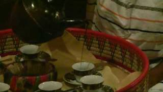 Ethiopian Coffee Ceremony At Mesob Restaurant Of Montclair NJ Coffee Ceremony