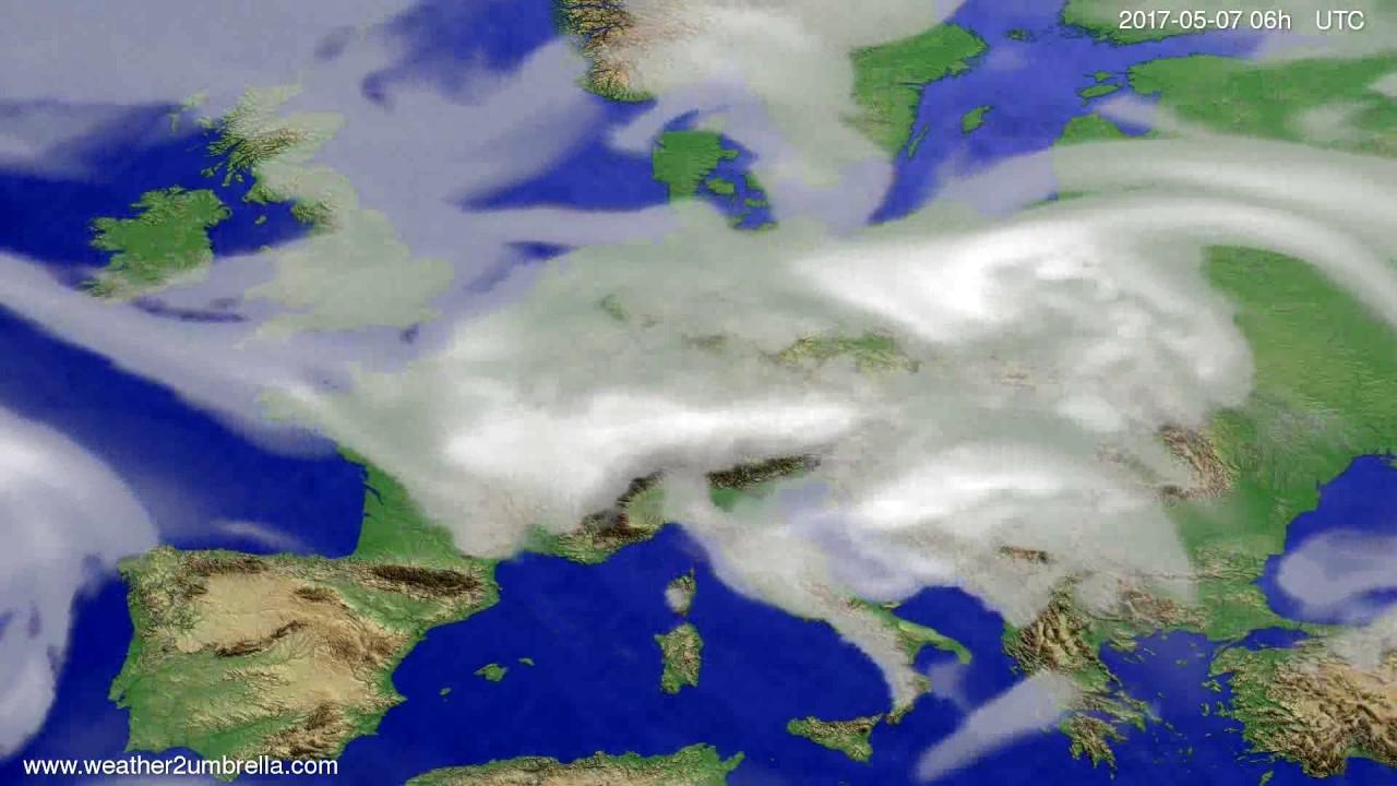Cloud forecast Europe 2017-05-04