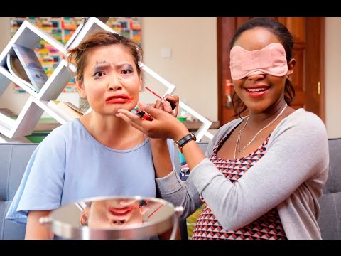 Blindfold Makeup Challenge on Susan | Our2Cents