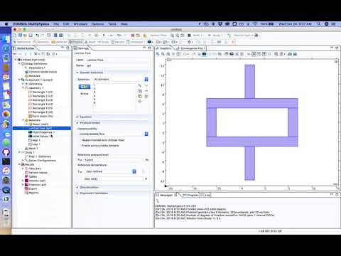 Laminar flow simulation in COMSOL Multiphysics