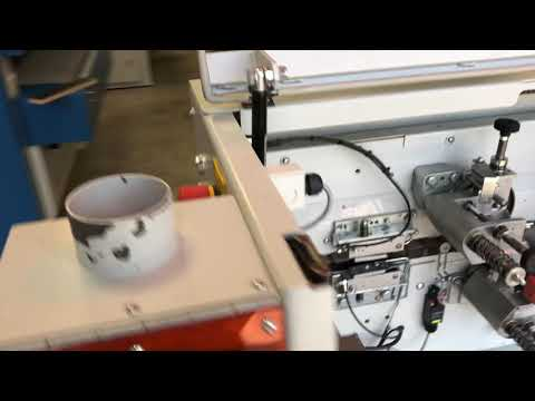 2012 Holzher Streamer 1054 edgebander test with PUR glue
