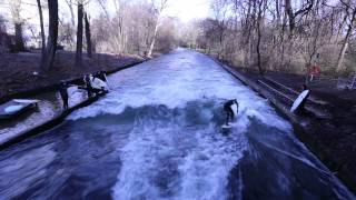 Munich Canal Surfing