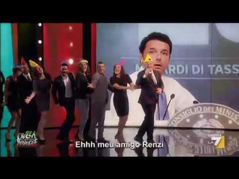 17 - Maurizio Crozza torna con una nuova puntata di Crozza nel Paese delle Meraviglie, con Matteo Renzi alla Conferenza Stampa di presentazione della legge di sta...