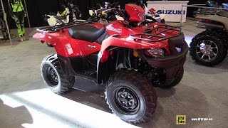 7. 2015 Suzuki Kingquad 750 AXI Recreational ATV - Walkaround - 2014 St Hyacinthe ATV show