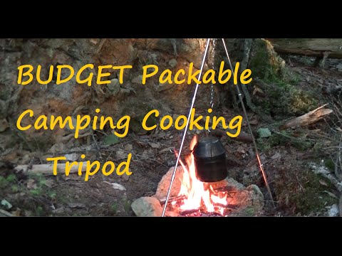 BUDGET Packable Camp Cooking Tripod ,Campfire And Coffee
