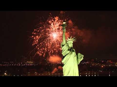 0 Le feu d'artifice Macy's, le 4 juillet à New York