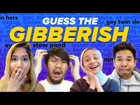 Guess The GIBBERISH! | SAYS Challenge