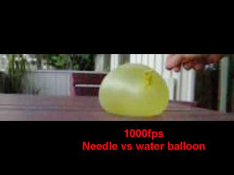 casio ex fc100 - Water balloon explodes at 1000fps Music: Porcelain - Moby.