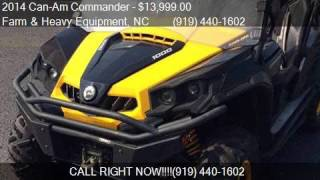7. 2014 Can-Am Commander 1000 XT-P for sale in Farm and Heavy E
