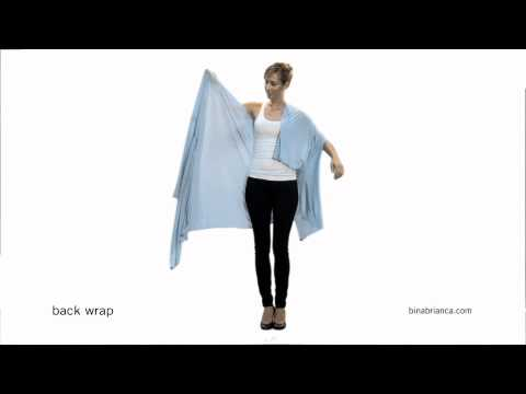 Blue Back Wrap - How to Make The Bina a Back Wrap