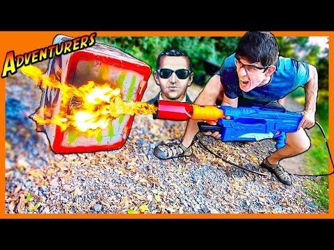 NERF FLAME THROWER MOD VS DB COOPER SAFE!