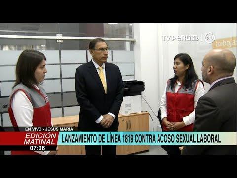 Presidente Vizcarra participa de lanzamiento de Línea 1819 contra el acoso sexual laboral