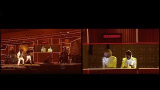Daft Punk Grammy Awars 2014 Performance synched with Rehearsal
