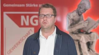 Mark Baumeister, Geschäftsführer der NGG- Region Saar, im Interview mit der Einigkeit