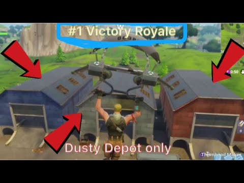 How!? Dusty Depot only challenge ( Fortnite: Battle Royale ) w/ Amin Omar and Eliot