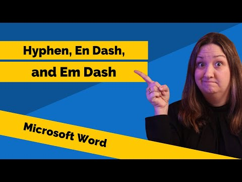Hyphens, En Dashes, and Em Dashes in Microsoft Word (видео)