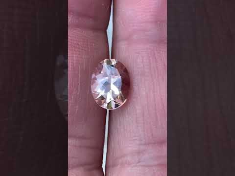 Beautiful Loose Peach Morganite Gemstone in Oval Cut in Grade AAA at AfricaGems