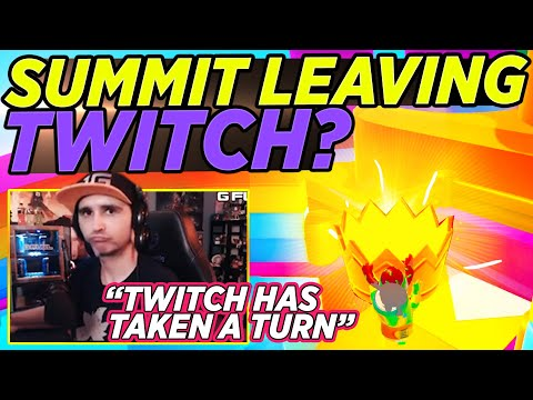 Summit Talks about LEAVING TWITCH - Fall Guys Tournament with Shroud