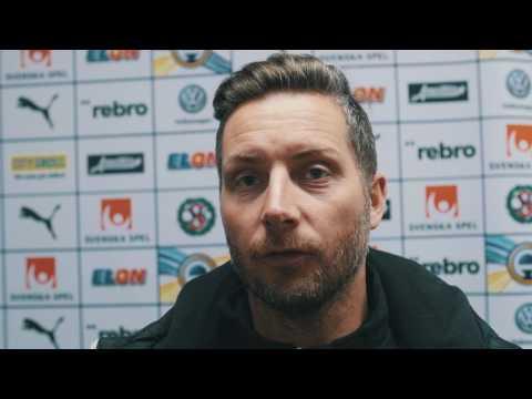 Axel Kjäll efter 1-1 mot BK Häcken