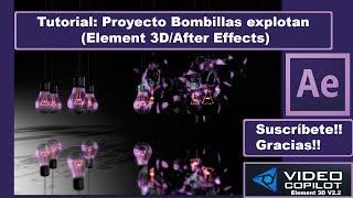 """En este Tutorial realizamos la creación paso a paso del proyecto """"Bombillas Explotan"""" usando Element 3D y por supuesto After Effects. En el proyecto podemos crear bombillas que permanecen semi encendidas colgadas del techo y que explotan a lo largo de la reproducción realizando un movimiento lateral durante toda la reproducción.--------------------------------------------------Mi página Web -► http://www.mepasoamac.com--------------------------------------------------Espero les Guste este Vídeo, Déjame un Like !y No te pierdas los nuevos vídeos, Suscribete Ahora es Gratis!◕ Click Aquí para Suscribirte! -► https://goo.gl/GhuzT9--------------------------------------------------Mi página Web -► http://mepasoamac.comComparte el video en Facebook -► https://goo.gl/VqfRw0--------------------------------------------------Sígueme.. Twitter -► https://goo.gl/yWQzbtSígueme.. GooglePlus -► goo.gl/AYRwFR--------------------------------------------------"""