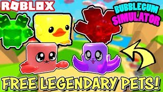 ROBLOX LIVE  FREE LEGENDARY PETS IN BUBBLEGUM SIMULATOR - VIP AND PUBLIC SERVERS